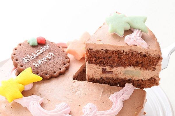 卵・乳製品除去可能 似顔絵クッキーのデコレーションケーキ チョコクリーム☆国産小麦粉と安心材料 4号 12cmの画像3枚目