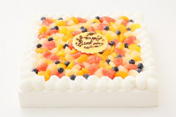 特注フルーツショートケーキ 24×24cmの画像1枚目