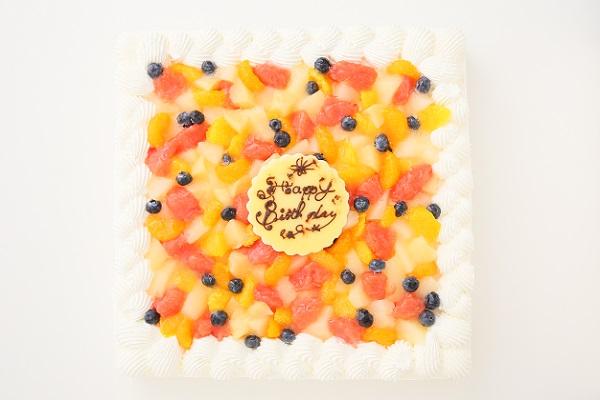 特注フルーツショートケーキ 24×24cmの画像2枚目