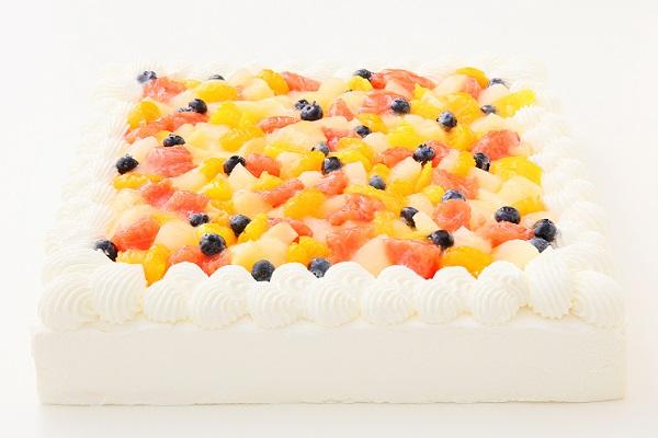 特注フルーツショートケーキ 24×24cmの画像3枚目