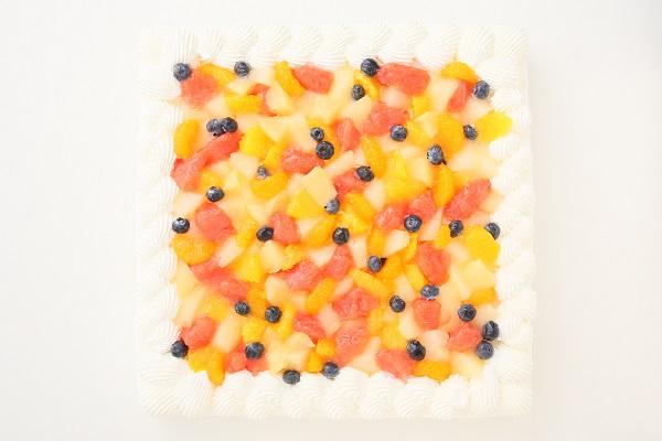 特注フルーツショートケーキ 24×24cmの画像4枚目