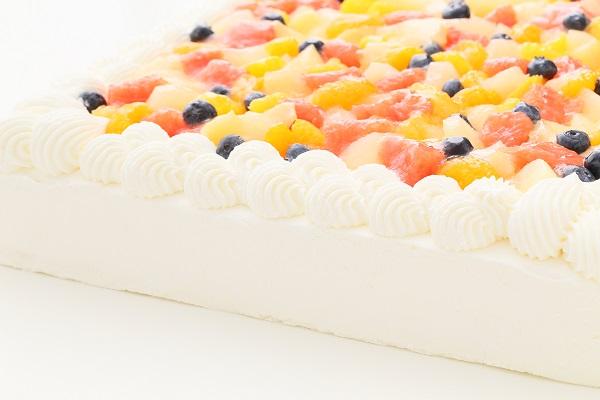 似顔絵大型ケーキ 24×24cm 20~23名様向けの画像10枚目