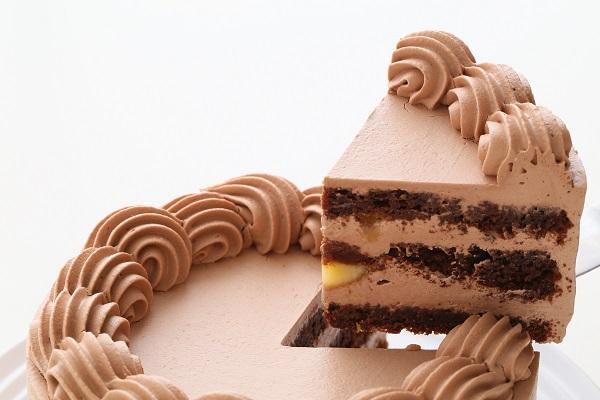 卵・乳製品・小麦粉除去 100%植物性チョコクリーム ホールケーキ 5号 15cmの画像3枚目