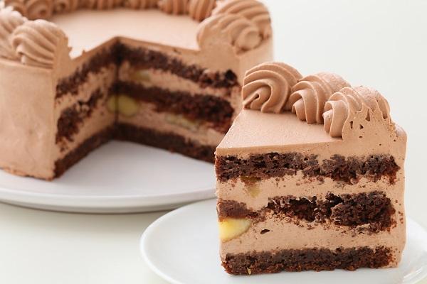 卵・乳製品・小麦粉除去 100%植物性チョコクリーム ホールケーキ 5号 15cmの画像5枚目