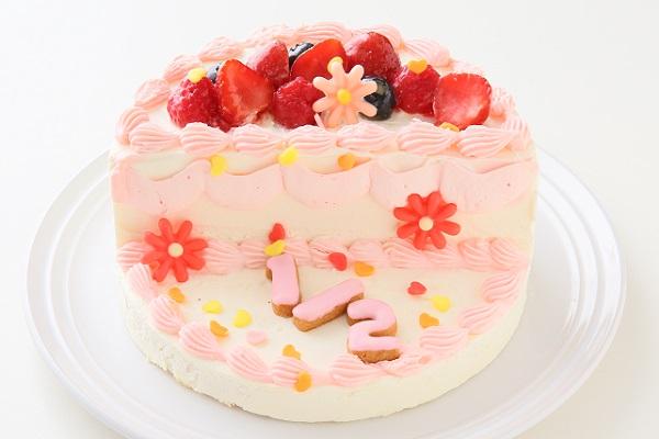 ハーフバースデーケーキ女の子 4号 12cmの画像1枚目