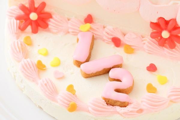 ハーフバースデーケーキ女の子 4号 12cmの画像14枚目