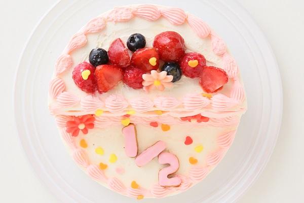 ハーフバースデーケーキ女の子 4号 12cmの画像2枚目