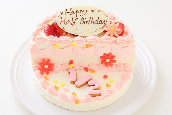 ハーフバースデーケーキ女の子 4号 12cmの画像3枚目