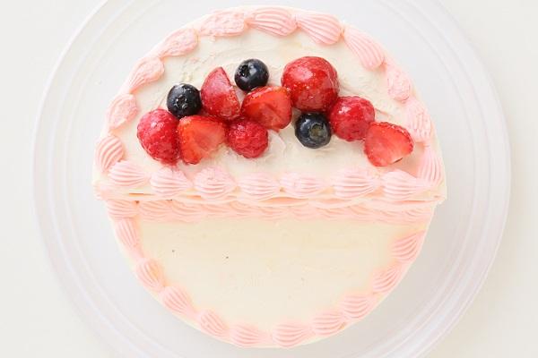 ハーフバースデーケーキ女の子 4号 12cmの画像6枚目