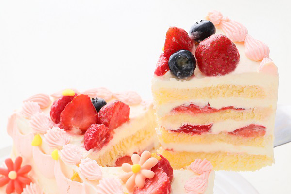 ハーフバースデーケーキ女の子 4号 12cmの画像7枚目