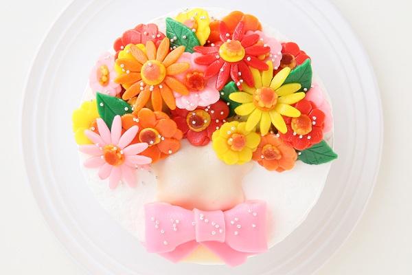 花束フルーツのデコレーション 生クリーム 4号 12cmの画像2枚目