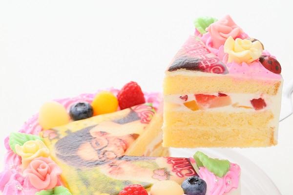 メッセージが入るお花畑の写真ケーキ 5号 15cmの画像3枚目
