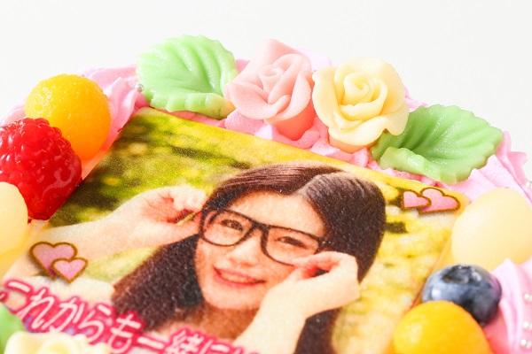 メッセージが入るお花畑の写真ケーキ 5号 15cmの画像8枚目