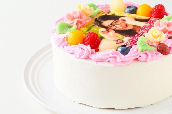 メッセージが入るお花畑の写真ケーキ 5号 15cmの画像9枚目