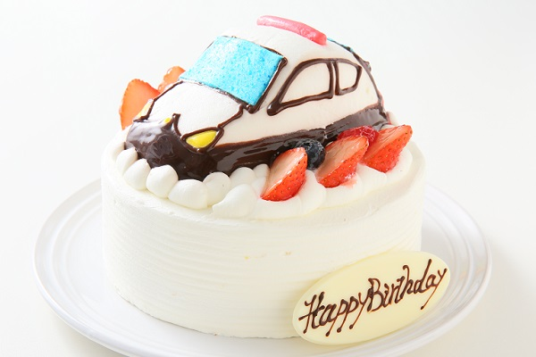 乗り物ケーキ 4号 12cmの画像2枚目