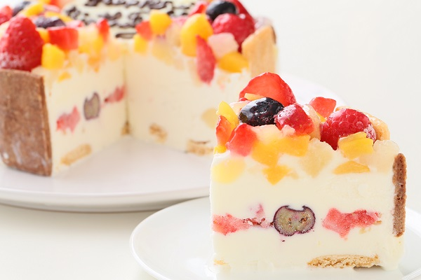 卵除去 生乳アイスクリームフルーツアイスケーキ4号 12cmの画像5枚目