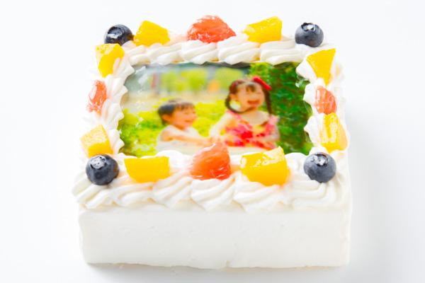 スクエア写真ケーキ 4号 12cmの画像2枚目