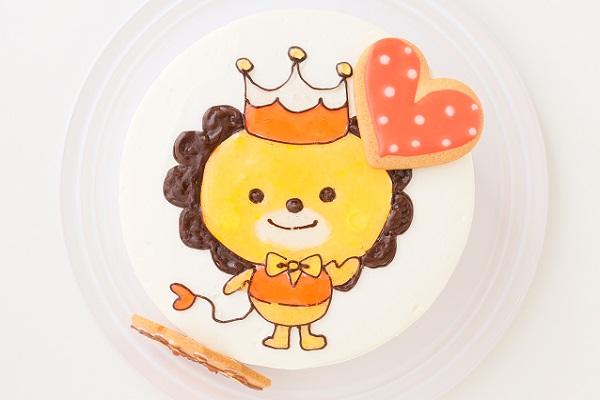 アイシングクッキーのイラストデコレーションケーキ 5号 15cmの画像2枚目