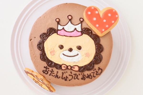 アイシングクッキーのイラストデコレーションケーキ チョコ生 5号 15cmの画像2枚目