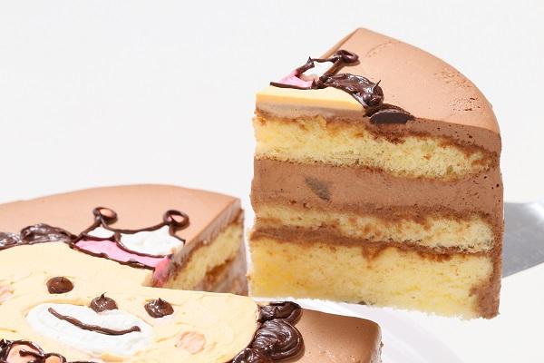 アイシングクッキーのイラストデコレーションケーキ チョコ生 5号 15cmの画像3枚目