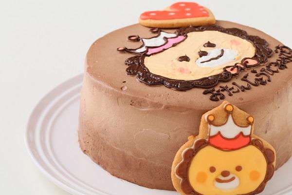 アイシングクッキーのイラストデコレーションケーキ チョコ生 5号 15cmの画像6枚目