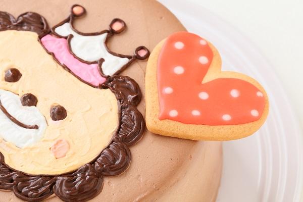 アイシングクッキーのイラストデコレーションケーキ チョコ生 5号 15cmの画像8枚目