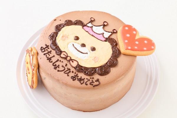 アイシングクッキーのイラストデコレーションケーキ チョコ生 5号 15cmの画像9枚目