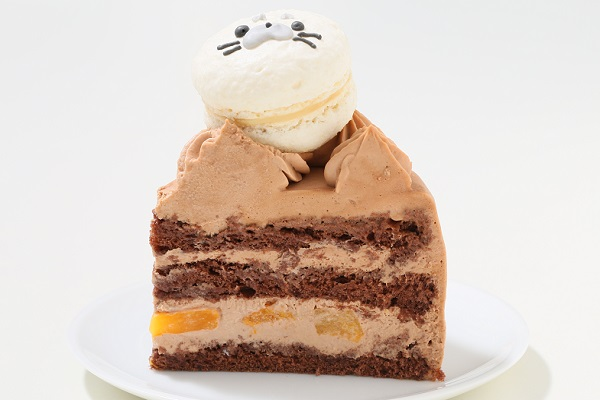 動物さんマカロンチョコクリームケーキ 4号 12cmの画像6枚目