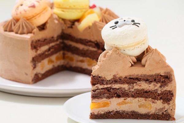 動物さんマカロンチョコクリームケーキ 4号 12cmの画像7枚目