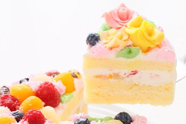 お花畑のケーキ 5号 15cmの画像3枚目