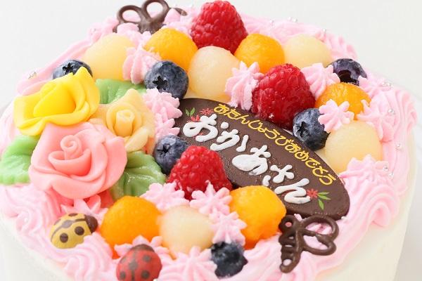 お花畑のケーキ 5号 15cmの画像6枚目
