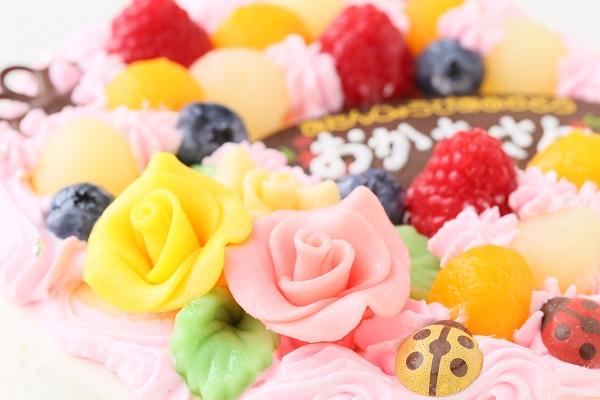お花畑のケーキ 5号 15cmの画像8枚目