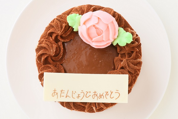 生チョコの薔薇デコレーション 4号 12cmの画像2枚目