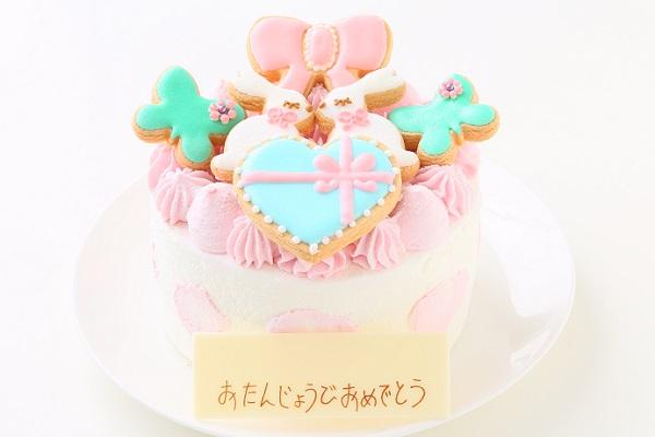 うさちゃんアイシングクッキーデコレーション 5号 15cmの画像1枚目