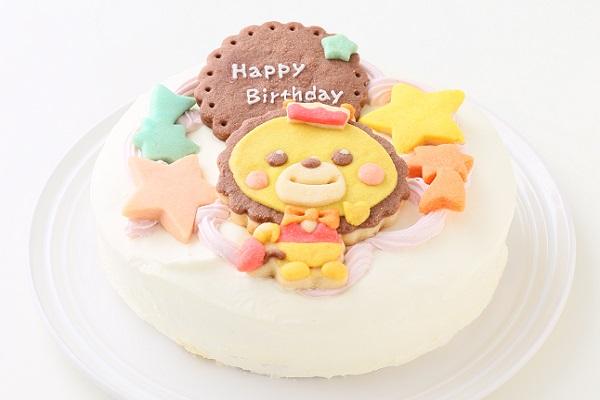 キャラクタークッキーの生クリームデコレーションケーキ☆国産小麦粉と安心材料 4号 12cmの画像2枚目