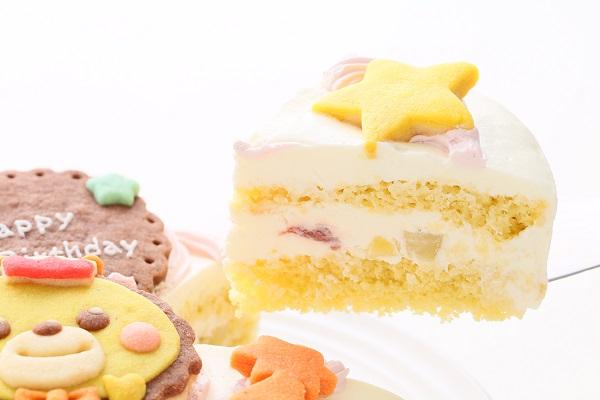 キャラクタークッキーの生クリームデコレーションケーキ☆国産小麦粉と安心材料 4号 12cmの画像3枚目