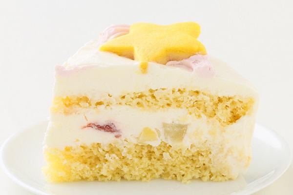 キャラクタークッキーの生クリームデコレーションケーキ☆国産小麦粉と安心材料 4号 12cmの画像4枚目