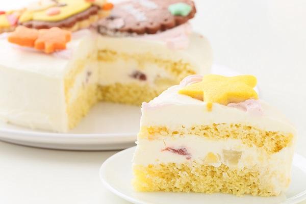 キャラクタークッキーの生クリームデコレーションケーキ☆国産小麦粉と安心材料 4号 12cmの画像5枚目