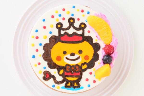 イラストケーキ チョコ生クリーム 4号 12cm