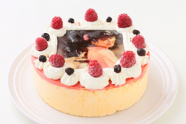 アイスフォトケーキ バニラ&キイチゴのピューレ 5号 15cmの画像2枚目