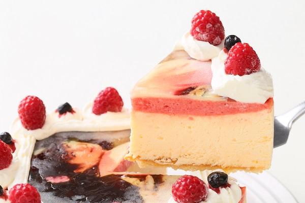 アイスフォトケーキ バニラ&キイチゴのピューレ 5号 15cmの画像3枚目