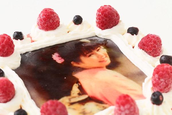 アイスフォトケーキ バニラ&キイチゴのピューレ 5号 15cmの画像6枚目