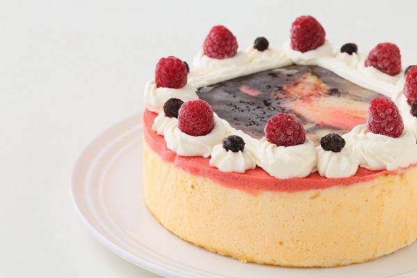 アイスフォトケーキ バニラ&キイチゴのピューレ 5号 15cmの画像7枚目