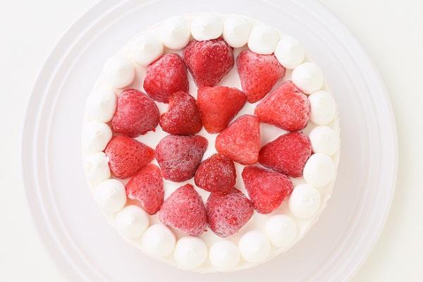 たっぷりイチゴのアイスケーキ 4号 12cmの画像4枚目