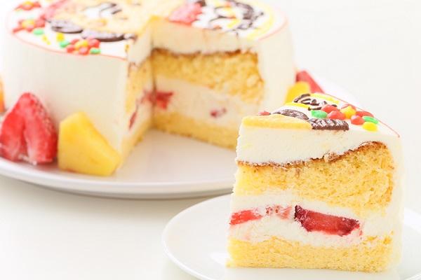 イラスト1体のみ イラストデコレーションケーキ(丸型)5号 15cmの画像5枚目