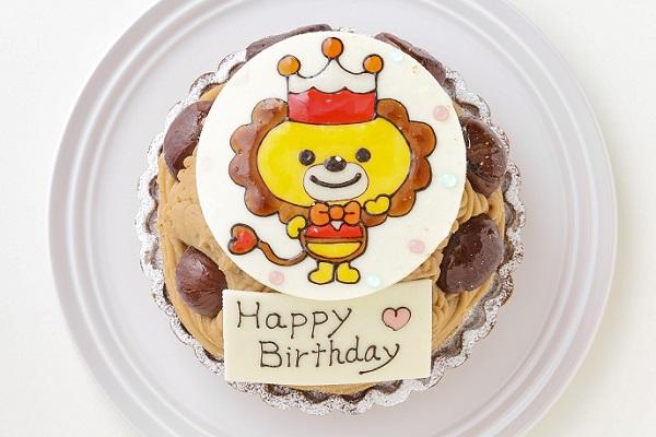 モンブランイラストケーキ 4号 12cm国分寺にある手作りケーキ 誕生日に