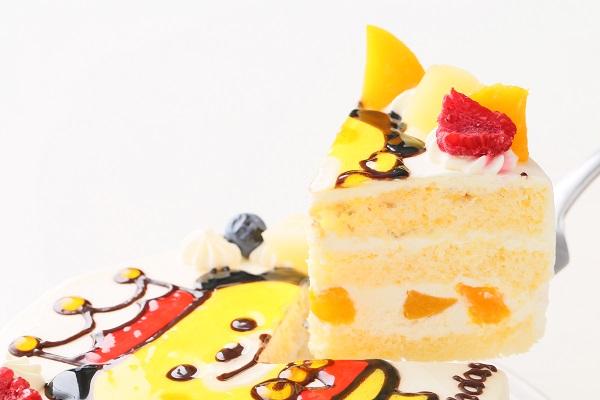 イラスト生クリームデコレーションケーキ 6号 18cmの画像3枚目