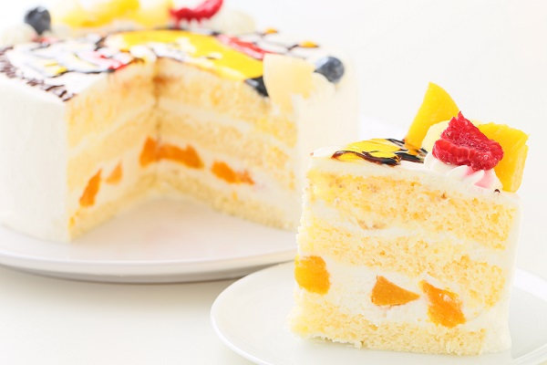 イラスト生クリームデコレーションケーキ 6号 18cmの画像5枚目