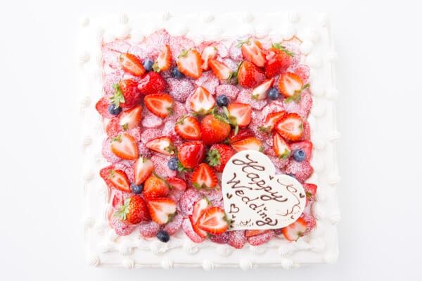 イチゴ好きにはたまらない たっぷりイチゴのスクエアデコレーション 30cm×30cmの画像2枚目