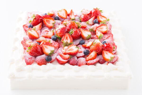 イチゴ好きにはたまらない たっぷりイチゴのスクエアデコレーション 30cm×30cmの画像3枚目